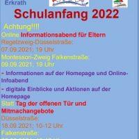 Plakat Schulanmeldung 2122